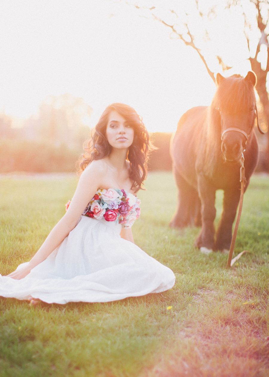 kelsea holder springtime flower bandeau and horses