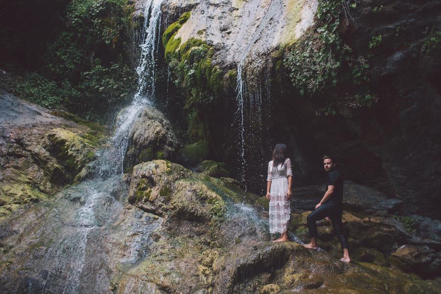 Big Sur Waterfall Engagement by Kelsea Holder