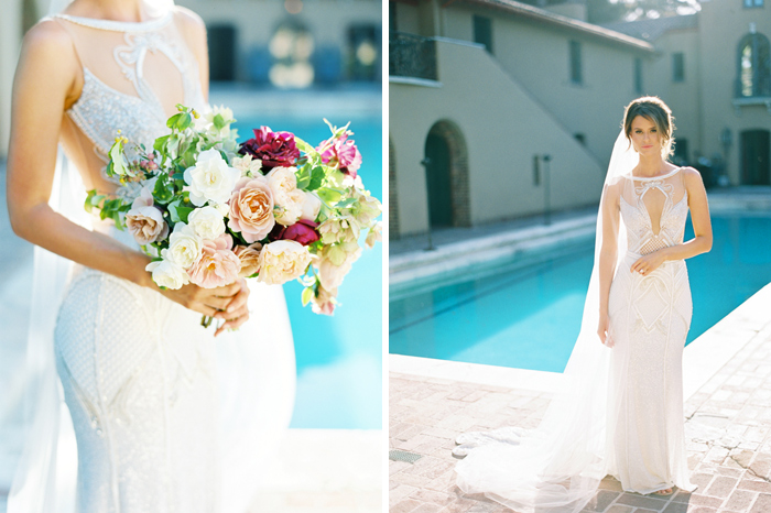 Poolside Wedding Canfield Moreno Estate