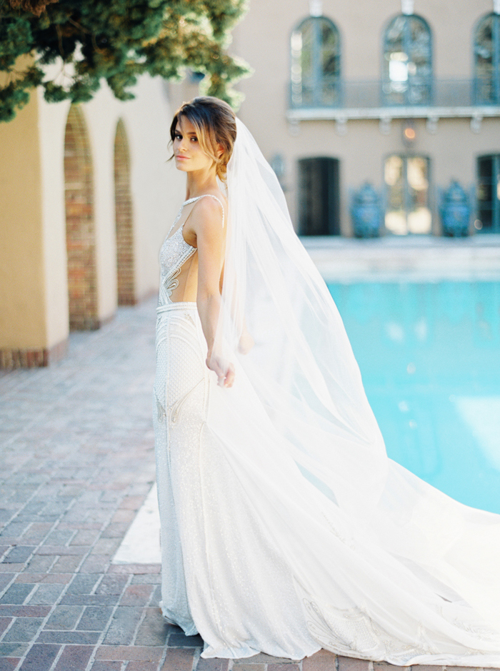 Poolside wedding at Paramour Mansion