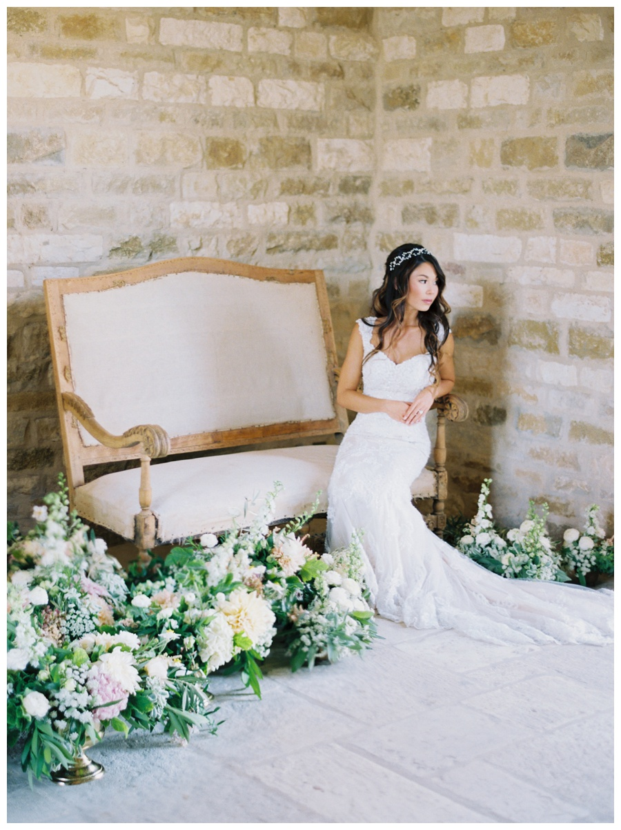 Bridal portrait at sunstone villa